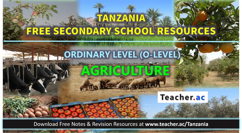 Form 3 Agriculture Notes