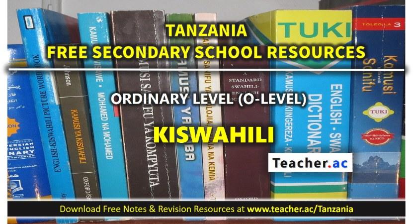 Form 3 Kiswahili Notes
