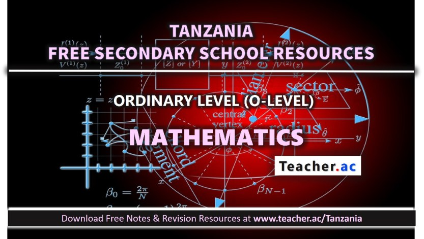 Form 3 Mathematics Notes